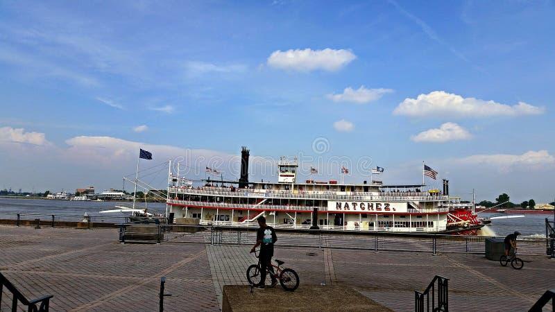 De Peddelboot van New Orleans Louisiane Natchez stock foto's