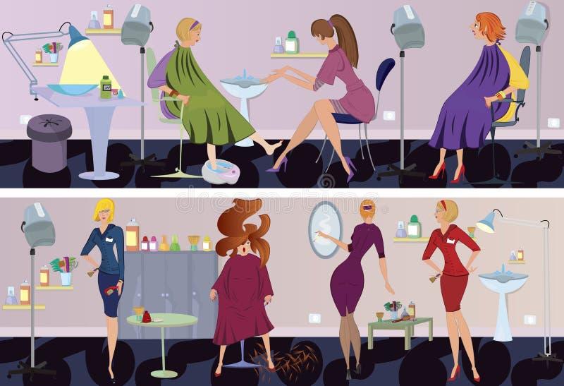 De pedicure van de de salonbanner van de schoonheid vector illustratie