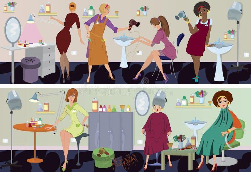 De pedicure van de de salonbanner van de schoonheid stock illustratie