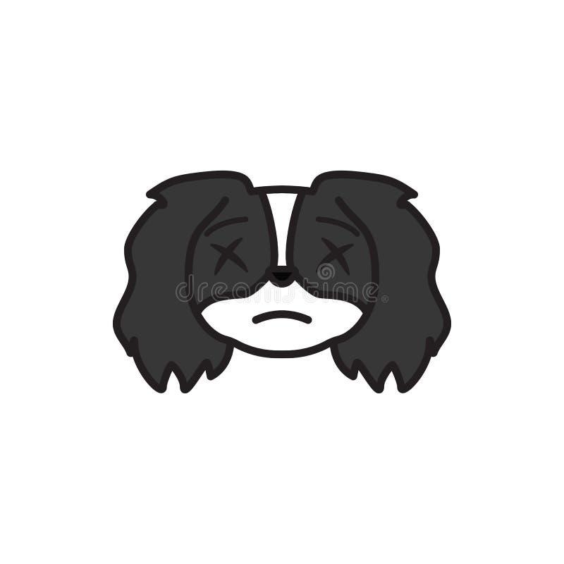 De pekinees, emoji, schokte multicolored pictogram Tekens en symbolen het pictogram kan voor Web, embleem, mobiele toepassing, UI royalty-vrije illustratie