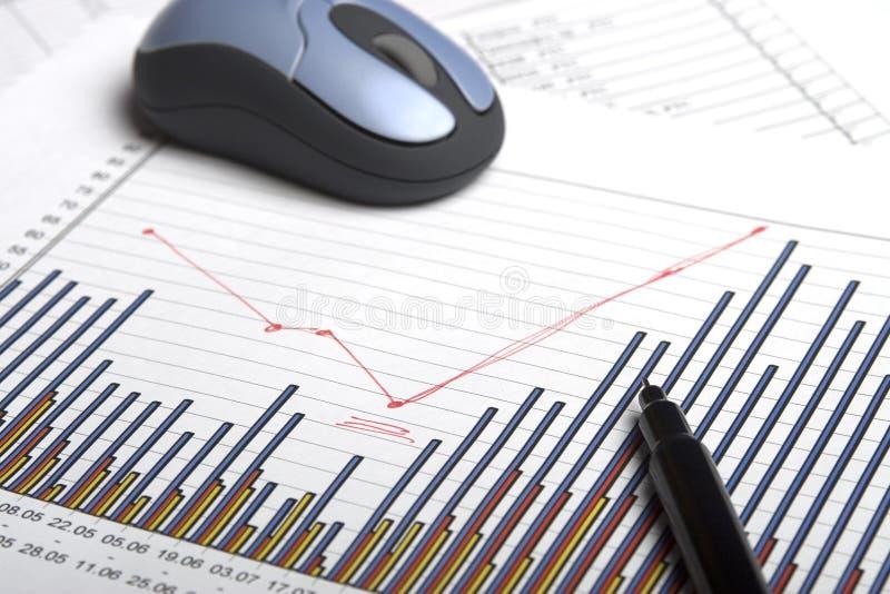 De pen & de muis van de grafiek royalty-vrije stock foto's