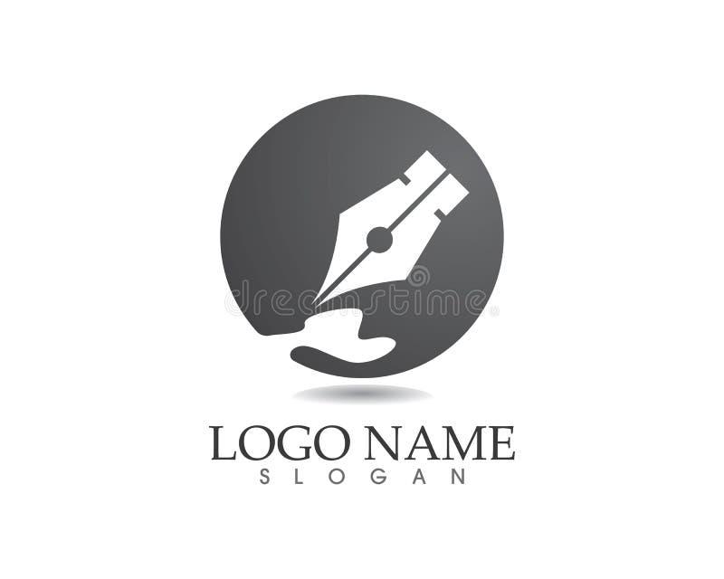 De pen schrijft het malplaatjeapp van het tekenembleem pictogrammen stock illustratie