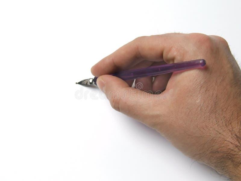 De Pen van de Holding van de hand stock foto's