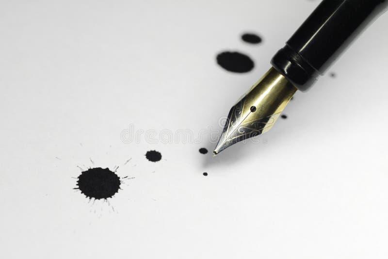 De pen van de inkt stock foto