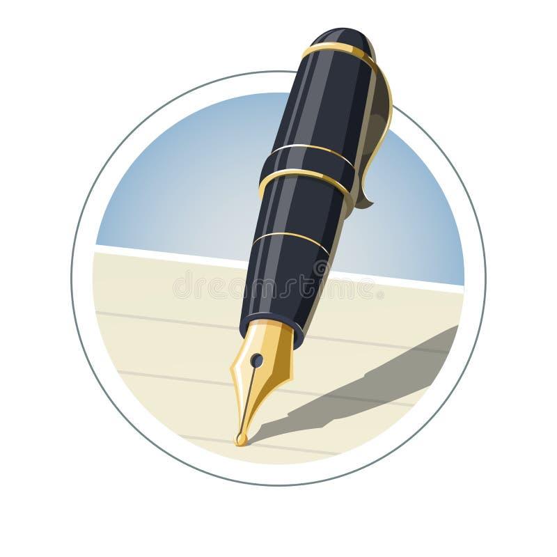 De pen van de inkt stock illustratie