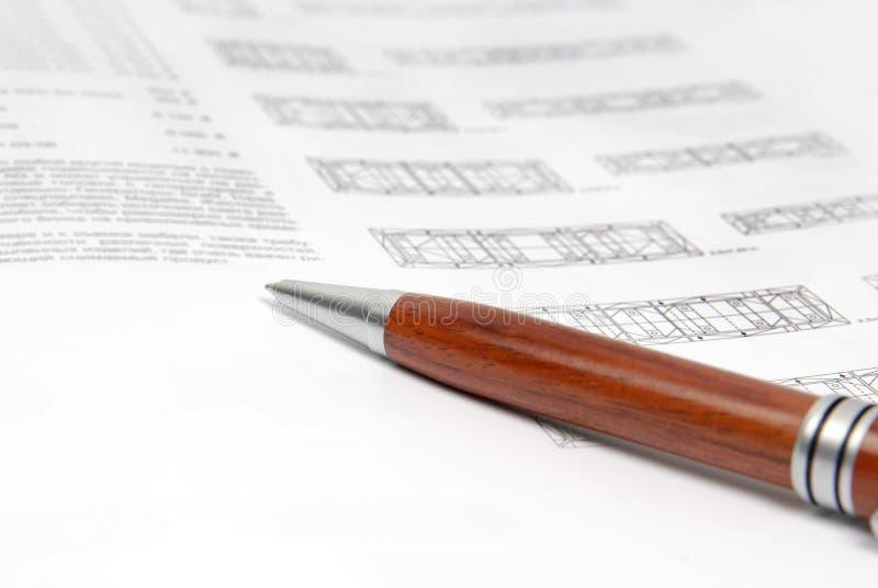 De pen van documenten stock fotografie