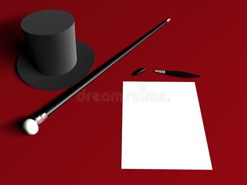 De pen van het de hoedenriet van de brief royalty-vrije illustratie