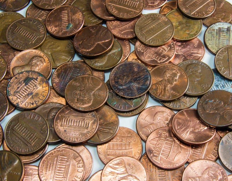De Pence van Verenigde Staten stock afbeeldingen