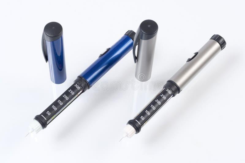 De pennen van de insuline royalty-vrije stock afbeelding