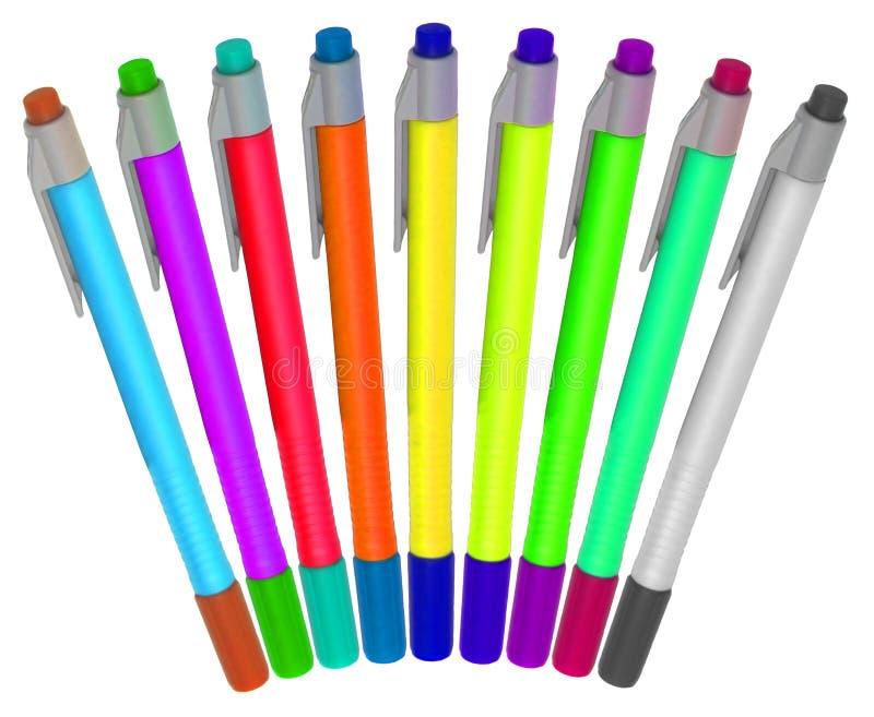 De pennen van de kleur vector illustratie