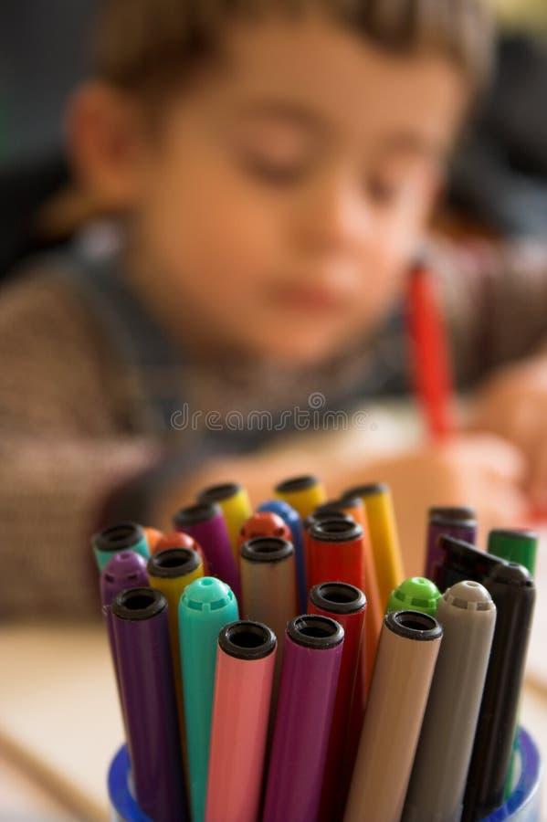 De pennen van de vezel royalty-vrije stock fotografie