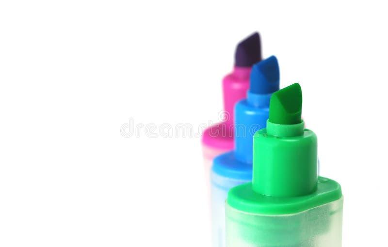 De pennen van Highlighter stock foto