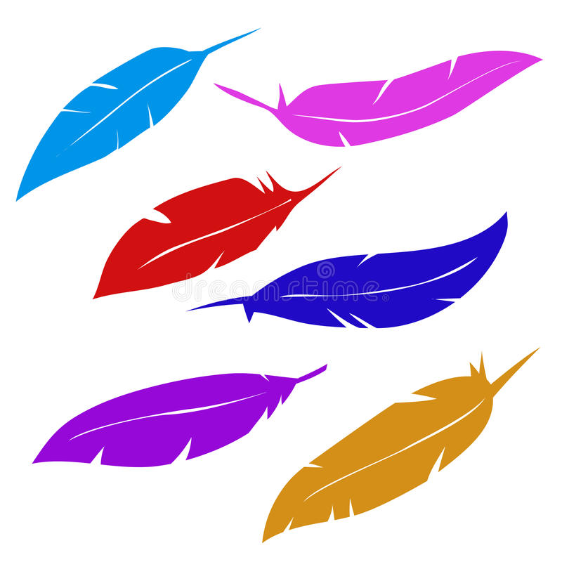 De pennen van vogels stock illustratie