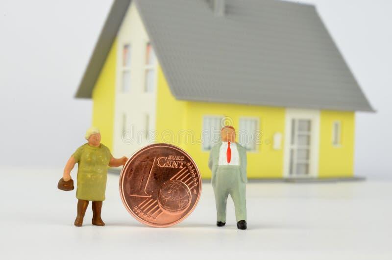 De pensionering betaalt stock afbeeldingen