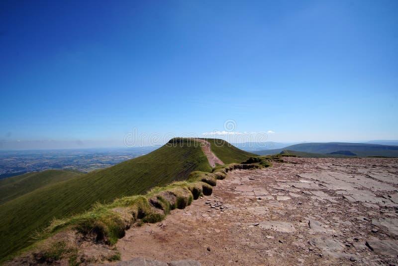 De peny ventilator, Brecon bebakent Nationaal Park, Wales, het Verenigd Koninkrijk in Juli 2018 stock foto's