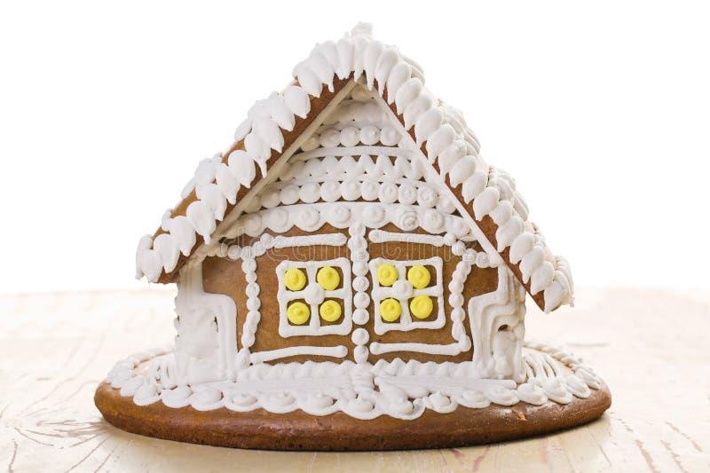 De peperkoekhuis van Kerstmis stock foto
