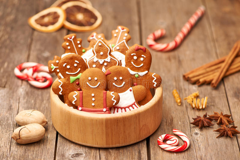 De peperkoekkoekjes van Kerstmis royalty-vrije stock foto's