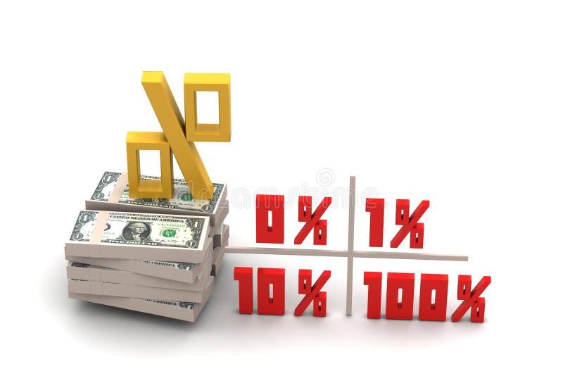 De percenten van conceptenfinanciën stock foto