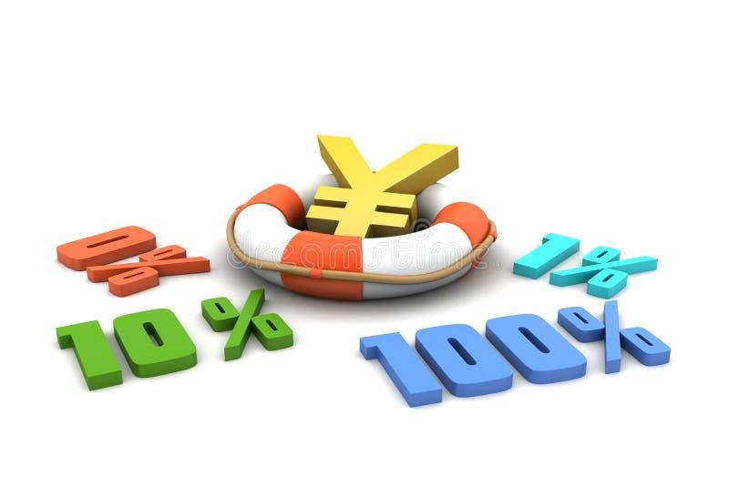 De percenten van conceptenfinanciën stock illustratie