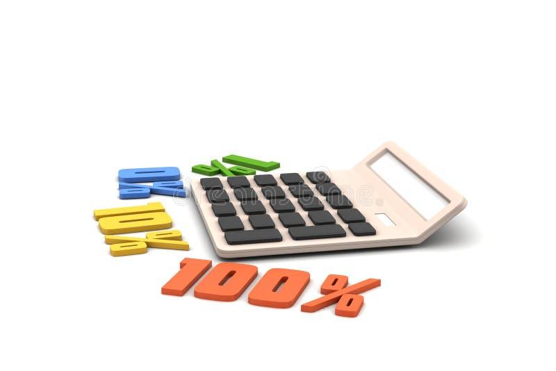 De percenten van conceptenfinanciën met calculator royalty-vrije stock fotografie