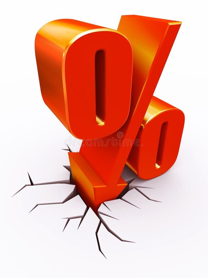 De percenten van de korting royalty-vrije illustratie