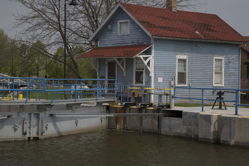De Pere Locks Control House royalty free stock images