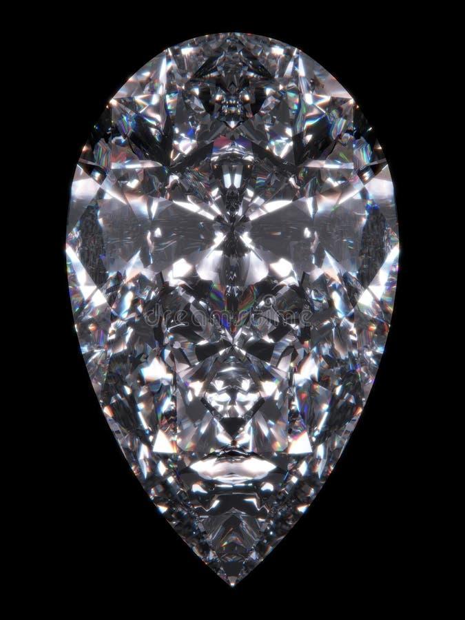 De perenbesnoeiing van de diamant stock illustratie