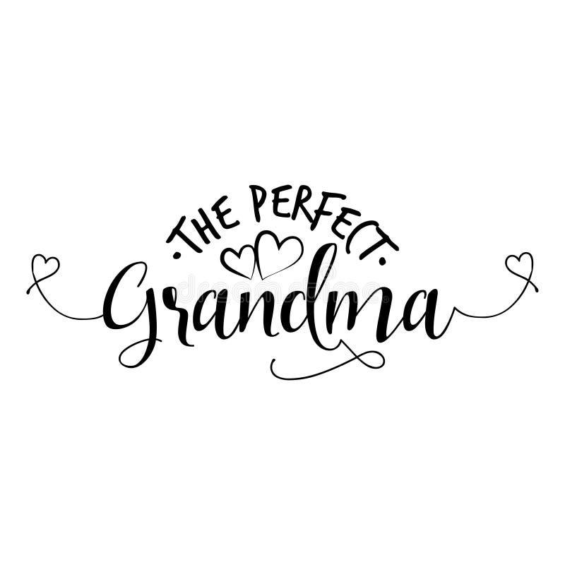 De perfecte Oma royalty-vrije illustratie
