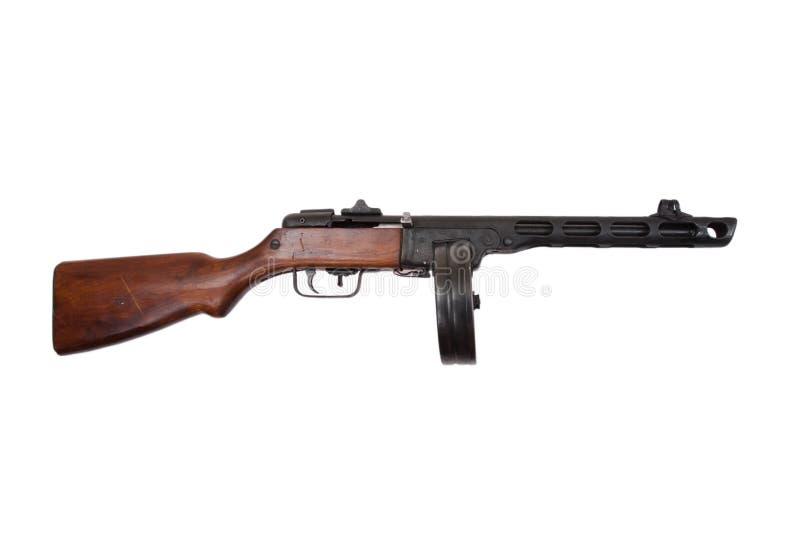 De periode sovjetmachinepistool ppsh-41 van WO.II stock foto's