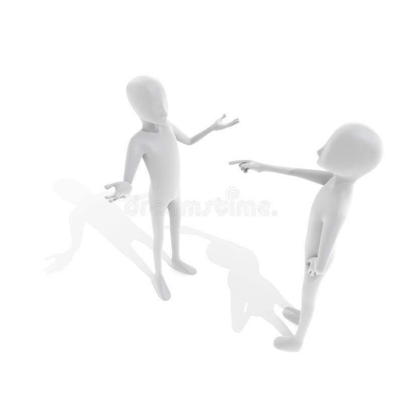 De persoon die wordt gevraagd vector illustratie