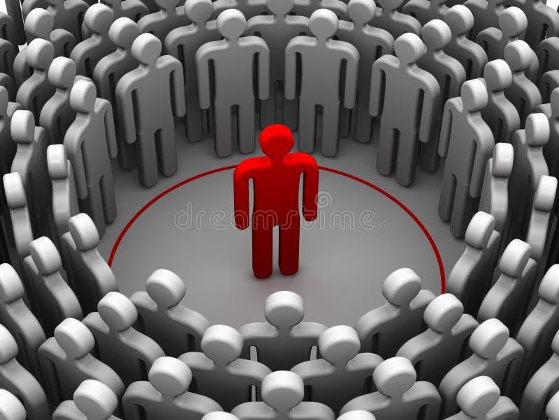 De persoon is een introvert of sociophobe Het concept royalty-vrije illustratie