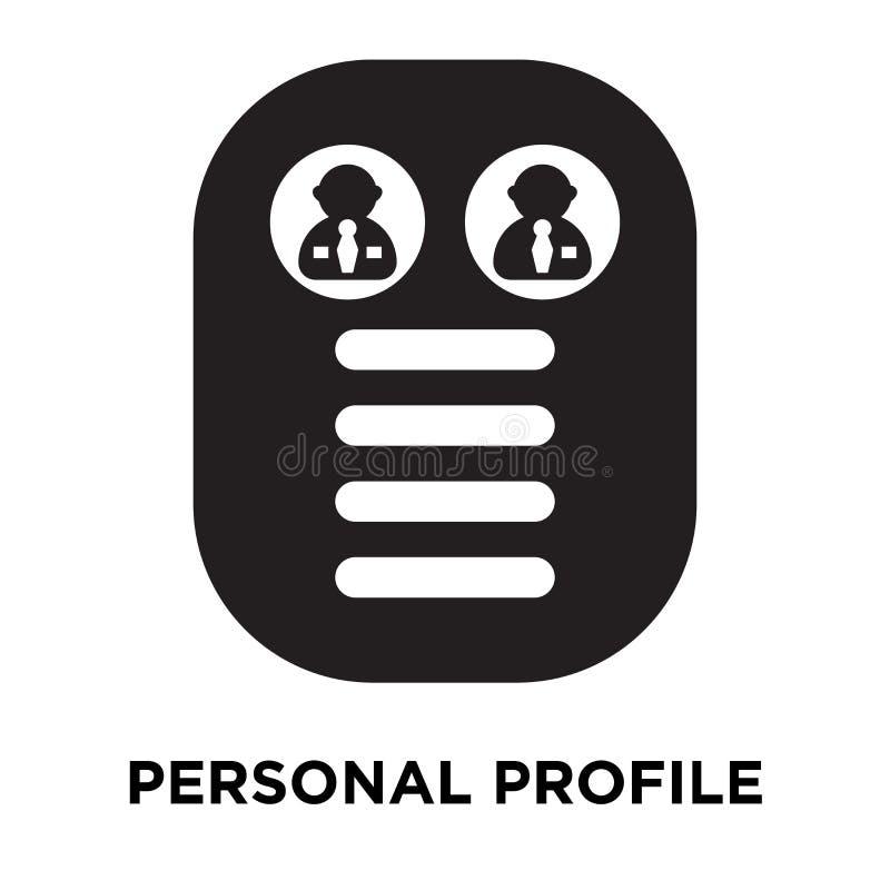 De persoonlijke die vector van het profielpictogram op witte achtergrond, embleem wordt geïsoleerd royalty-vrije illustratie