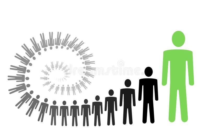 De persoonlijke groei royalty-vrije illustratie