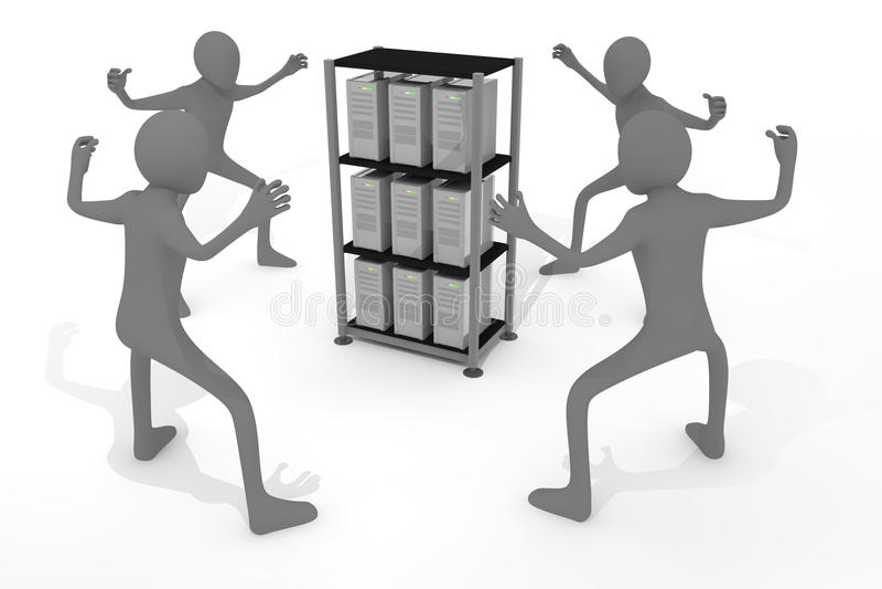 De persoonlijke informatie wordt gestolen vector illustratie