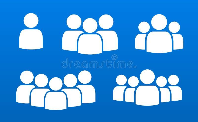 De persoonsmensen overbevolken het symboolpictogrammen van de teamleider stock illustratie