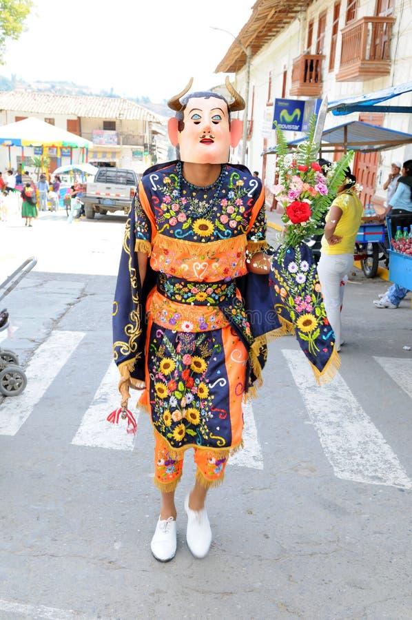 De Peruviaanse Danser van de Folklore royalty-vrije stock fotografie