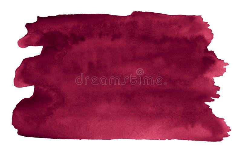 De Perzische rode waterverf is een tendenskleur, een geïsoleerde vlek met scheidingen en grenzen Frame met exemplaarruimte stock illustratie