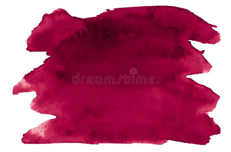 De Perzische rode waterverf is een tendenskleur, een geïsoleerde vlek met scheidingen en grenzen Frame met exemplaarruimte royalty-vrije illustratie