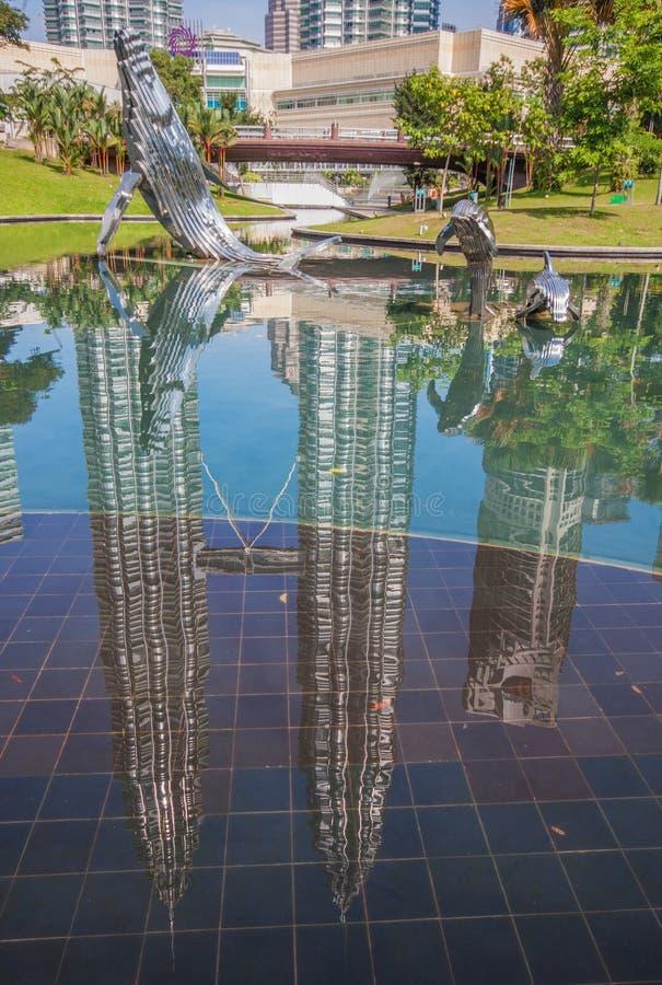 De Petronas-Toren Kuala Lumpur, Maleisië stock afbeelding
