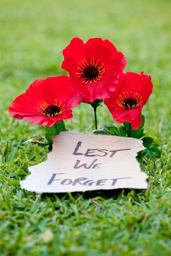 De peur que nous oubliions - Anzac - le souvenir photo libre de droits