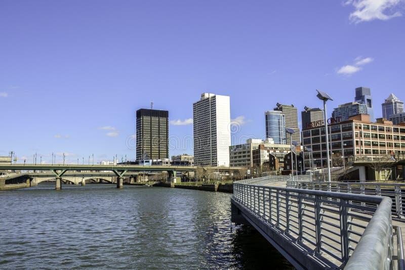 De Philadelphfia opinião do rio em qualquer altura que - foto de stock royalty free