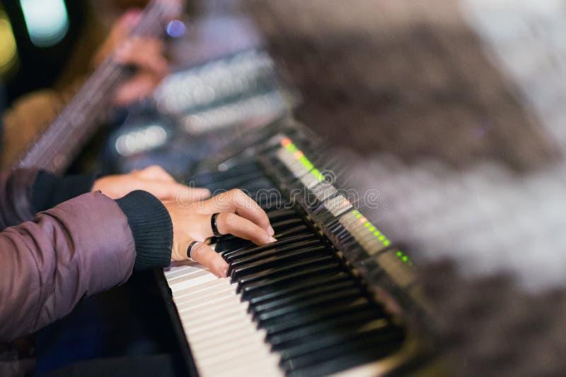 De Pianist royalty-vrije stock fotografie
