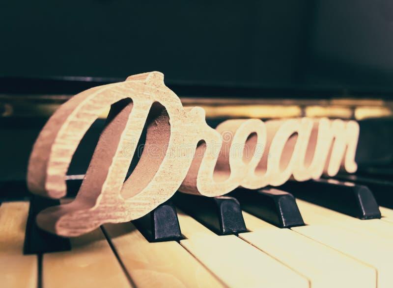 De piano droomt Stijl stock foto