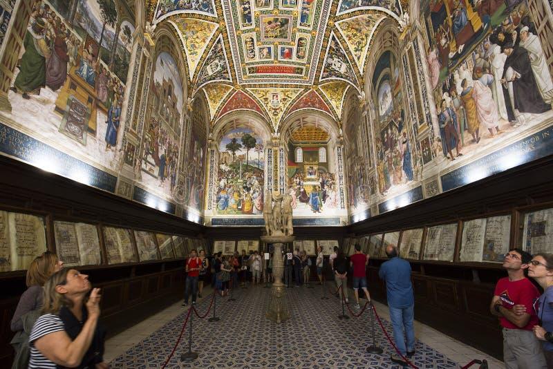 De Piccolomini-bibliotheek, Duomo van Siena, Italië royalty-vrije stock afbeelding