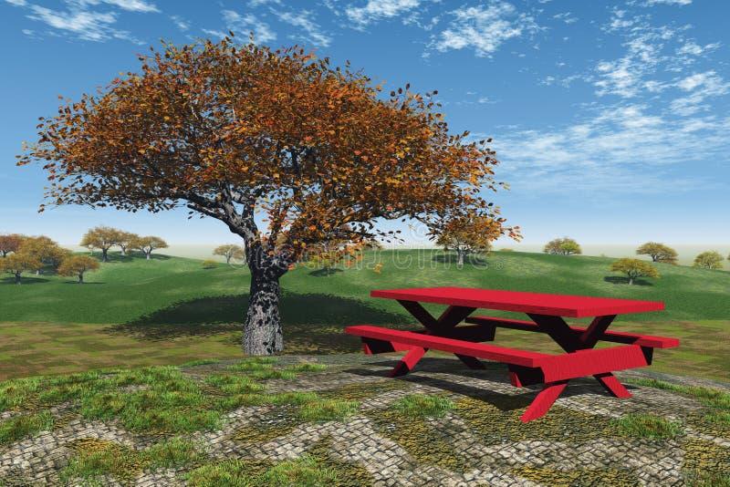 De Picknick van de herfst vector illustratie