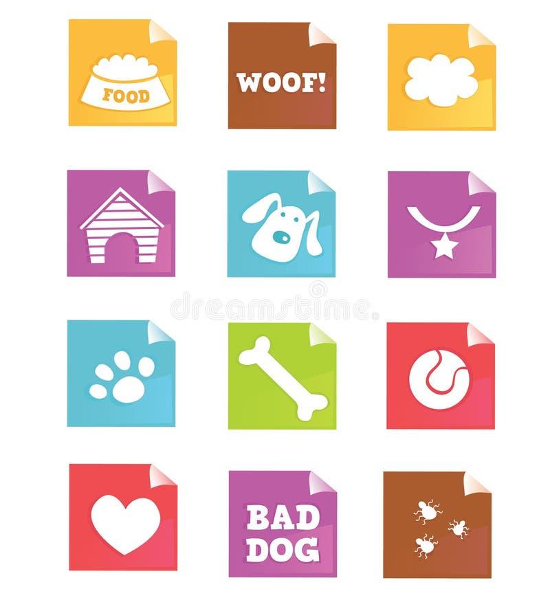 De pictogrammenâ VECTOR van de hond royalty-vrije illustratie