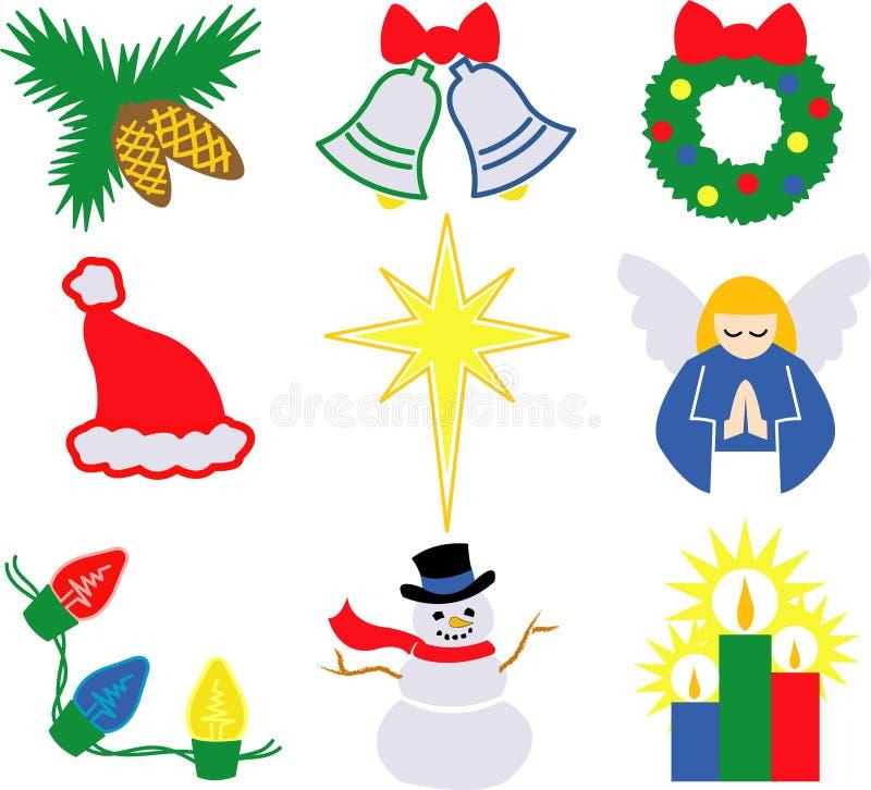 De Pictogrammen 2/eps van Kerstmis royalty-vrije illustratie