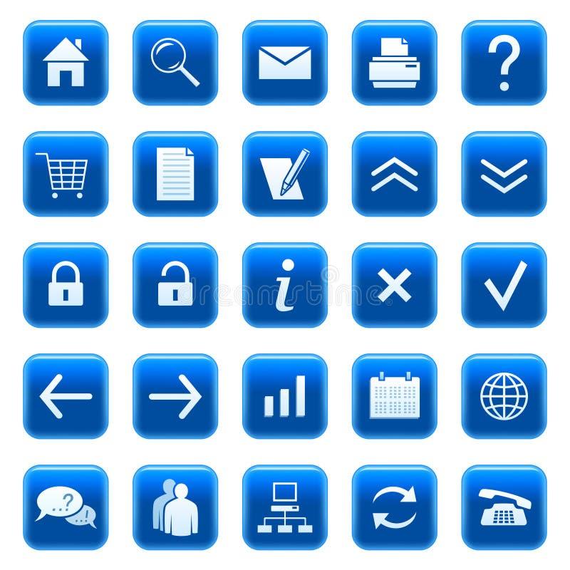 De pictogrammen/de knopen van het Web royalty-vrije illustratie