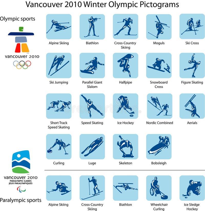 De pictogrammen en de emblemen van de sport   royalty-vrije illustratie