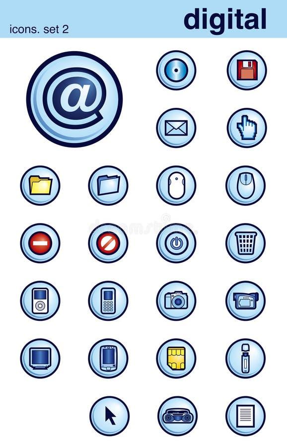 De pictogrammen plaatsen 2 stock illustratie